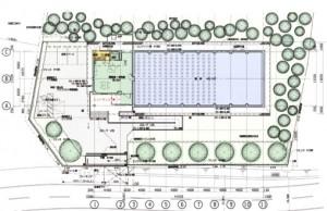 成田分館 平面図