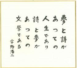 宇野浩二 「夢と詩があっての人生であり詩と夢があっての文学である」 - 日本近代文学館