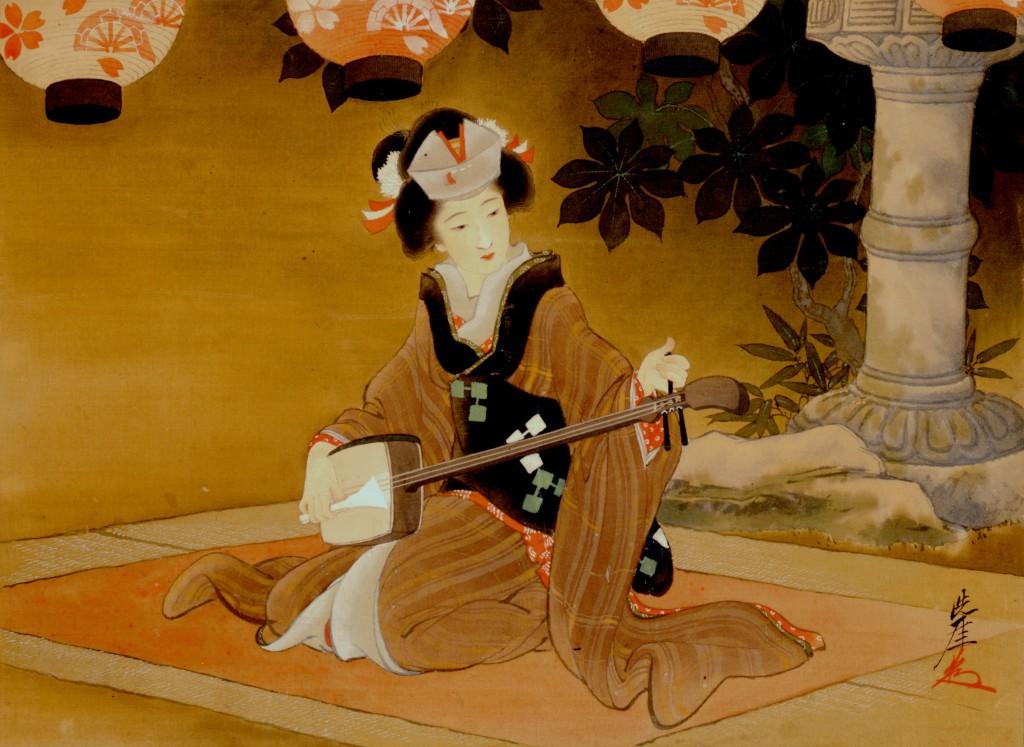 井川洗厓画「大菩薩峠十人女の中 お君」